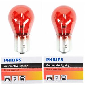 2 pc Philips Brake Light Bulbs for Saab 9-3 9-3X 2008-2011 Electrical uy