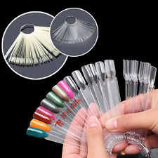 Manicure pedicure practice displays ebay 50 pcs nail art tips pop stick display fan fashion starter ring clear diy prinsesfo Image collections