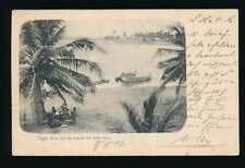 AK Togo, Blick auf die Lagune bei Klein-Popo, gelaufen 1902 ab KWITTA (61101)