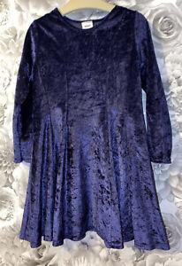 Girls Age 4-5 Years - Next Velour Vintage Dress