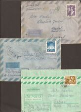 Hungary. Misc Airmail covers x 3 (all shown)