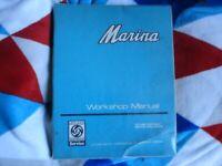 BOOK MOTOR CAR MANUEL WORKSHOP MANUAL MARINA 1500-1750 MODELS