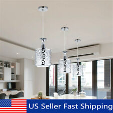 Crystal Iron Ceiling Light Pendant Lamp Dining Room Chandelier Modern Home