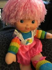"""Rainbow Brite 1983 15"""" Pink Hair With Clothes Euc"""