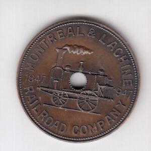 1847-1947 CANADA RAILROAD COMPANY MONTREAL LACHINE TOKEN COIN RESTRIKE