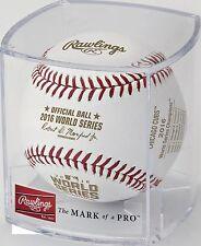 Rawlings Official 2016 World Series Champs Cubs logo & scores MLB Baseball CUBE