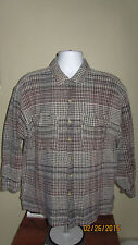 2XL XL Large Vintage 90's Ruff Long Sleeve Button Front Casual Outdoor Shirt