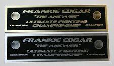 Frankie Edgar UFC nameplate for signed mma gloves photo case