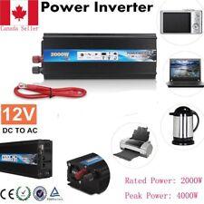 Peak Power 4000W Car Converter Power Inverter Charger  DC 12V AC 220V CA