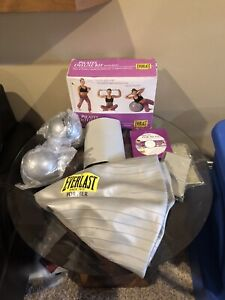 EVERLAST PILATES DELUXE KIT DVD, BALL AND WEIGHTS