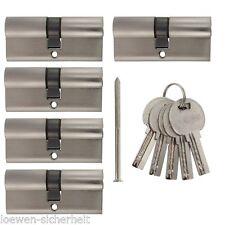 5x Profilzylinder 70mm 35/35 gleichschliessend +25 Schlüssel Schliesszylinder