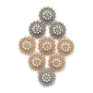 5pcs Retro Pearl Round Metal Buttons for Clothing Repair Sewing Handmade Decor