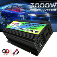Boat Car 3000W Converter Power Inverter DC 12V to AC 220V Invertor Charger