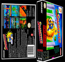 Sparkster - SNES Reproduction Art Case/Box No Game.