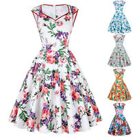 Ladies Vintage Style Retro 1950s Evening Party Swing Pin Up Skaters Tea Dresses