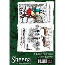 A Little Bit Festive A5 Rubber Stamp Set COUNTRY CHRISTMAS By Sheena Douglass