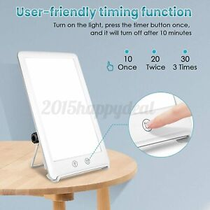 SAD Therapy Lamp Upgraded 10000Lux Natural Sunlight SUV-Free Dimming Timing UK