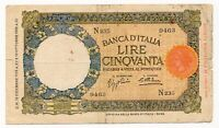 ITALY banknote 50 Lire 16.12.1936 VF Very Fine condition