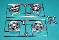 Ferrari Testarossa White Spyder 1/8 Chrome Wheels With Center Caps Set Of 4.