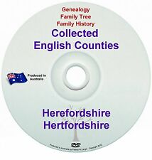 Genealogy England Herefordshire Hertfordshire books DVD