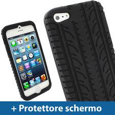 Nero Silicone Custodia Pneumatico per Nuovo Apple iPhone 5 5S 5C SE Skin Case