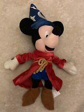 "New listing Disney Store Fantasia 2000 Sorcerer Mickey Mouse 11"" Bean Bag Plush Animal Toy"