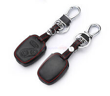3 Buttons Remote Key Fob Bag Holder PU Leather Cover Case Fit Honda Accord Civic