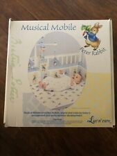 Beatrix Potter Peter Rabbit Mobile, Baby Shower, Musical, New.