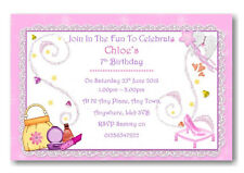 25 personalised Birthday Party / Birthday pamper party invitation invite Ref B9