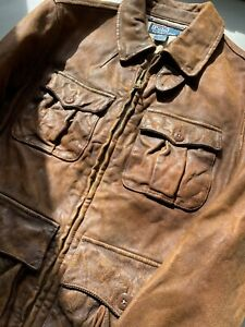 Polo Ralph Lauren Leather Jacket Size S Brown RRL