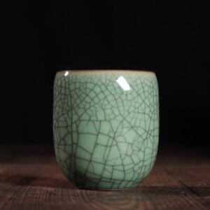 155ml Longquan celadon porcelain tea cup crackle glaze effect cup of tea marked