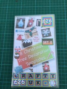 Christmas Acrylic templates Set 8 shapes