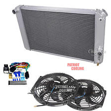 "1986-2005 Chevy S10 V8 Chevy conver. 3 Row CHAMPION RADIATOR & 12"" Fans & Relay"