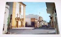 Cartolina Taviano Via e chiesa Immacolata Lecce 1969.