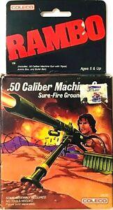 VINTAGE 1896 COLECO RAMBO .50 CALIBER MACHINE GUN NEW SEALED BOX RARE