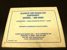 VINTAGE Elenco AM-550K Radio DIY Kit COMPLETE NEW Sealed