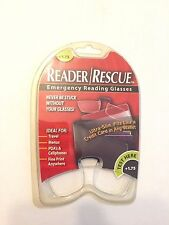 READER/RESCUE EMERGENCY READING GLASSES-ONLY $6.99 EACH