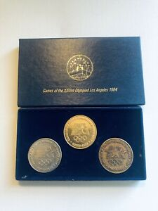 Set of 3 1984 Los Angeles Olympics Scrtd Fare Tokens Coins