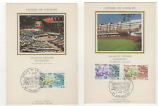 Conseil de l'Europe 1er jour FDC 1981 France 3 cartes maximums /T2628