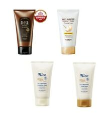 Skinfood Cleansing Foam, Rice Daily Scrub, Black Sugar, Egg White Cleanser