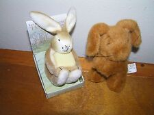 Lot of 2 Storybook Small Plush Bunny Rabbit Helpful Hare DAVY & GUESS HOW MUCH I