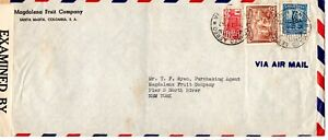 Colombia 1942 censored airmail cover to  New York