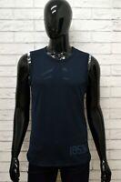 Maglia LEVIS Uomo Taglia M Maglietta Canotta Shirt Man Smanicato Cotone Blu Slim