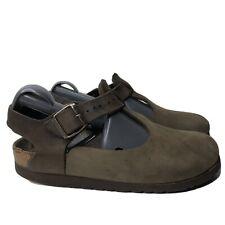 Birkenstock Womens 39 L8 M6 Closed Toe Slingack Sandals Clogs Mules Brown