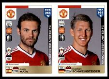 Panini FIFA 365 2016 - Mata - Schweinsteiger Manchester Utd No. 337 - 338