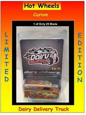 Hot Wheels Diecast Space Custom Dairy Delivery Truck Orange 1 of 25 Made