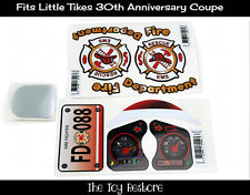 Replacement Decals Stickers fits Little Tikes Tykes Cozy Coupe 30th Firetruck