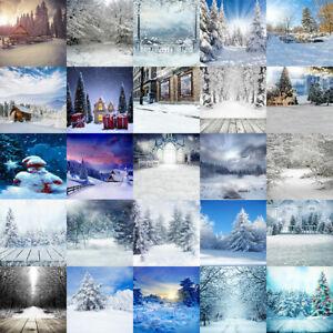 Winter Christmas Photo Background Photography Backdrop Snow Forest EBGAE2 GZAE2