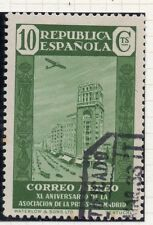 SPAGNA 1936 Press Association PRIMA EMISSIONE USATO FINE 10c. 058403