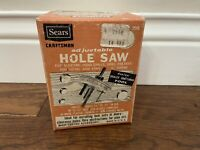 Vintage Sears Roebuck Craftsman Adjustable Hole Saw 9-2566 For Drill Excellent